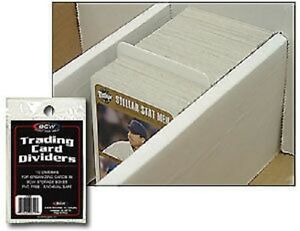 (10) BCW Trading Card Dividers - Fits Monster/Super Shoe Box and Storage Boxes