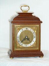 Excelente Elliott 8 días Caoba Mantel manto Carro Reloj, completamente restaurada