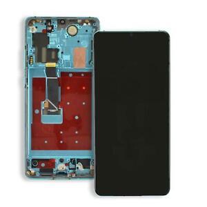 Huawei P30 Pro Display aurora blue LCD Touchscreen Rahmen