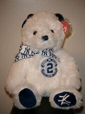 RARE NY Yankees Derek Jeter Captain Ty Beanie Buddy Bear MWMT SGA 2014 MINT