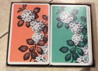 VINTAGE SET LORD BALTIMORE PLAYING CARDS LINEN FINISH FLOWER DOGWOOD