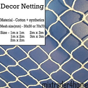 Decoration Netting Cotton+Synthetics Net 2mm Cord Natural Decor Party Bar Stage