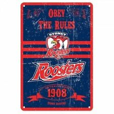 NRL Retro Supporter Tin Sign - Sydney Roosters - Man Cave - Heritage