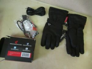 GLYDE BY GERBING G4 HEATED LEATHER GLOVES W/ 12V HOOKUP KIT - WOMANS XS BLACK