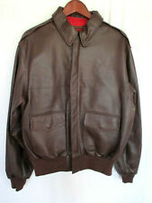 Orvis Type A-2 Leather Flight Jacket Reproduction Brown Large Size 42 NEVER WORN