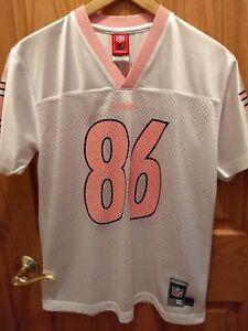 Pittsburgh Steelers Girls XL (16) Ward #86 White Pink Mesh Reebok Jersey