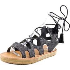 Calzado de mujer sandalias con tiras de color principal negro talla 39