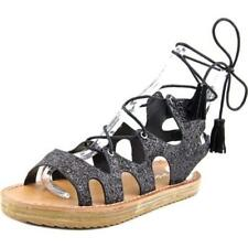 Sandalias con tiras de mujer de color principal negro talla 39