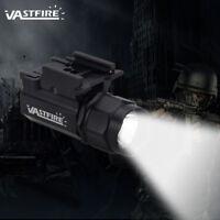 2 Modes 5000LM Pistol Tactical Flashlight Light Gun Light Weaver /Picatinny Rail