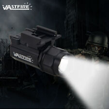 2modes Tactical 5000LM Pistol Flashlight Light Gun Light Weaver /Picatinny Rail