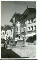 uralte AK, Bad Tölz Marktplatz mit Brunnen