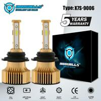 2X HB4 9006 LED Headlight Lamps Bulbs Conversion Kits 2500W 375000LM 6000K White