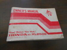 Honda 1978 XL250S Owners Manual 65pgs