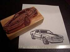 1969 Ford Mustang Boss 302 Classic Race Car Rubber Stamp - 3/4 front view!