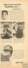 1961 Print Ad of Spalding Baseball Equipment Yogi Berra