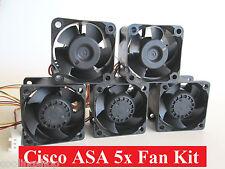 Set of 5x Cisco Fans for ASA5505 ASA5510 ASA5520 ASA5540 ASA5550 Complete Kit