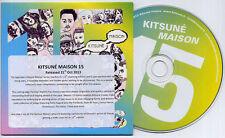 Kitsune Maison 15 French 16-track promo CD Jonny Pierce Portland Chela The Swiss