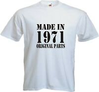 Men Funny T-Shirt - MADE IN 19?? -  Birthday Fathers Day Gift - All Sizes