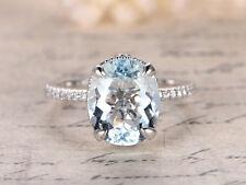 14k solid Gold ring~Aquamarine ring~Engagement Ring~finie ring~unique~SJR0315