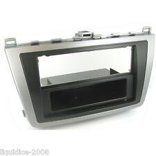 CT24MZ10 MAZDA 6 2008 to 2011 BLACK & SILVER SINGLE DIN FASCIA ADAPTER PANEL