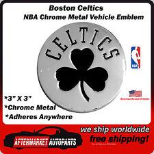 Boston Celtics NBA Chrome Metal Car Auto Emblem Team Decal Logo Ships Fast