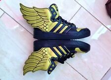 Adidas Originals Jeremy Scott Wings 2.0 Sneakers Shoes Black Gold G44824 size 10