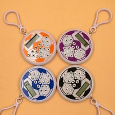 Portable Mini Digital Electronic Calculator Football Shape Key Chain Ring School