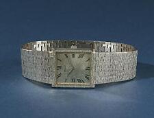 Edle PIAGET Damen Armband- Uhr / massiv weiß GOLD 750 / Handaufzug / Saphirglas