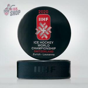 2020 Zurich Lausanne Switzerland Game puck Ice Hockey World Championship IIHF
