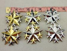 Set US Military Six Star Rank Badge Insignia Pin US Officer Shoulder Badge-D1118
