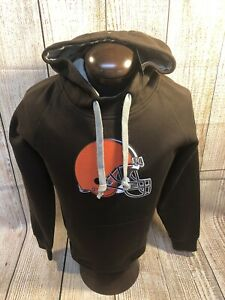 Mens ANTIGUA NEW NFL CLEVELAND BROWNS HOODIE S small Cotton Blend