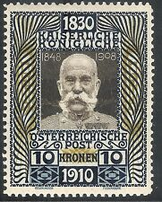 Austria 1910 80th Birthday brown/blue & ochre 10k MNH SG239