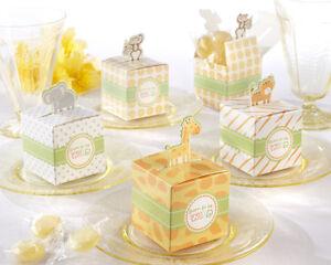 24 Mix Born To Be Wild Jungle Safari Theme Baby Shower Favor Candy Box Animal