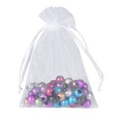 50 Pcs Organza Mesh Bag Jewelry Package Wedding Gift Drawstring Pouch Peachy