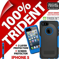 New Trident Aegis Protective Heavy Duty Hard Case Rugged for Apple iPhone 5 Blue