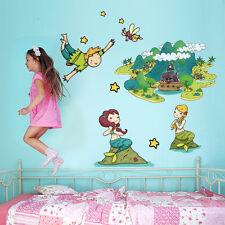 R00163 Wall Stickers Sticker Adesivi Murali Peter Pan e Campanellino 60x120 cm
