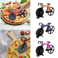 Pizza Wheel Cutter Bicycle Bike Shaped Roller Chopper Slicer Kitchen Gadgets