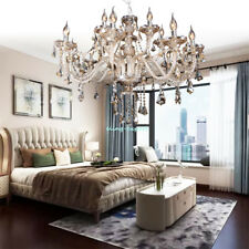 Elegant Crystal Chandelier Modern Ceiling 15 Lamp Pendant Lighting Fixture