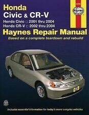 Honda Civic 2001-2004 & CR-V 2002-2004 Hayne's Automotive Repair Manual
