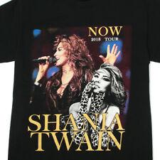 SHANIA TWAIN Now Tour 2018 Black Mens Cotton Tee T-Shirt size Small