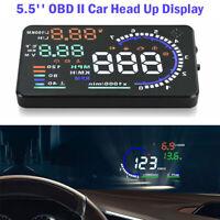 "Car 5.5"" HUD Head Up Display OBD II OBD2 Auto Gauge Dash Screen Speeding Warning"