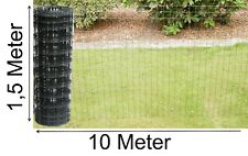 Gartenzaun grau anthrazit Gitterzaun Maschenzaun 150cm x 10m Schweiß-gitter-Zaun
