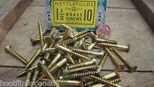 25 x nettlefolds 3.8Cm 10 OTTONE Viti a testa svasata GKN incastro RIPRISTINO