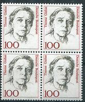 BRD Bund 1390 postfrisch Viererblock VB ungefaltet Frauen 1988 MNH