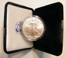 2018 American Uncircluted Silver Eagle w/US Mint Velvet Box and Capsule US Coin