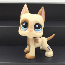 Littlest Pet Shop toys rare LPS great dane #1647 brown dog cute kids animal toys