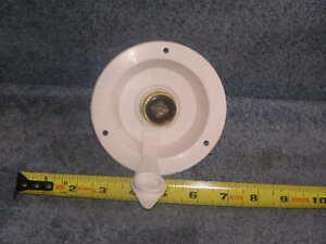 RV Trailer Camper Bus Flush City Water Inlet Fill Hose Port w/ Pressure valve