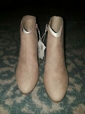 Old Navy Faux Suede Ankle Boots Light Taupe  8 ~NEW