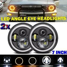 7 Inch 150W Halo LED Headlight Projector Angel Eyes Healamp For Land Rover Chevy