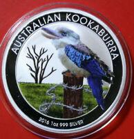 Australien 1 Dollar 2016 Kookaburra 1 oz  #F3807 ST-BU Nur 2.000 Colored frosted